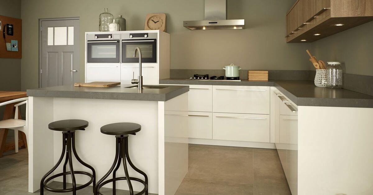 Keller Keukens Tilburg : Keller keuken wit en hout keukenstudio maassluis