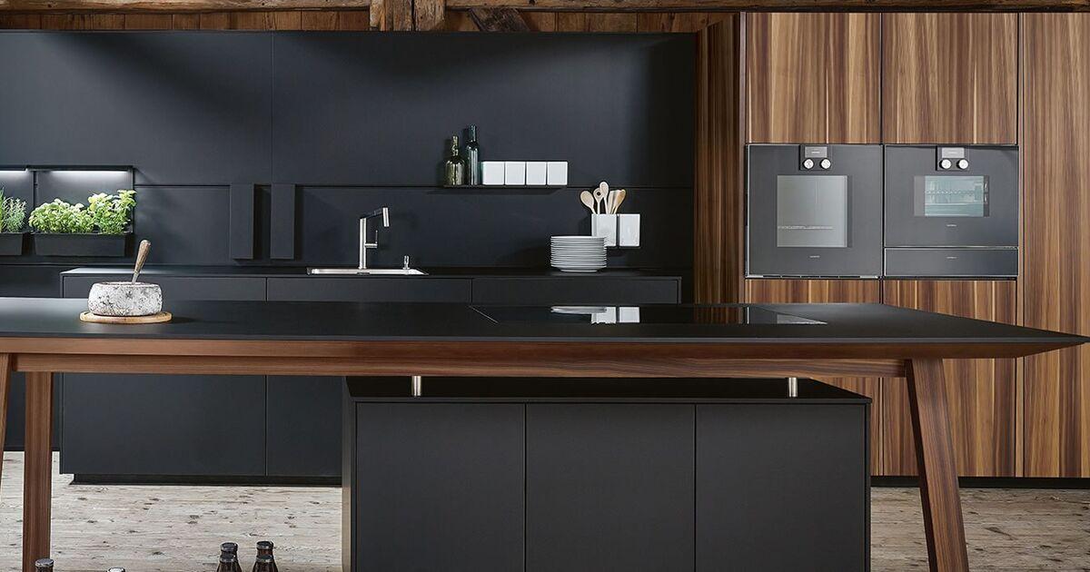 ≥ industrial kitchen mat zwart met staal nieuw keuken